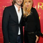 Rachel Zoe with husband | ADR at HM paris on FashionDailyMag
