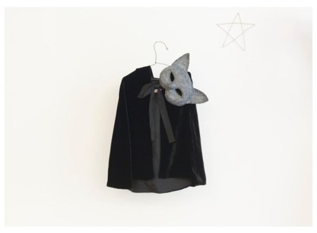 bonpoint short black velvet cape and mask | halloween loves on FashionDailyMag