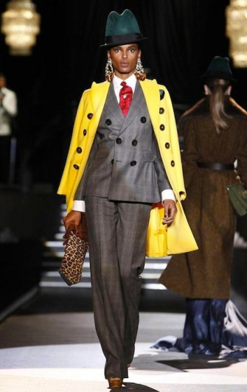 Tsheca mixmodelmgmt Dsquared2 fall 2013 yellow