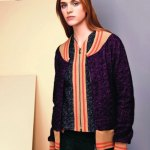 SEE by CHLOE look 29 details purple fall 2013 FashionDailyMag