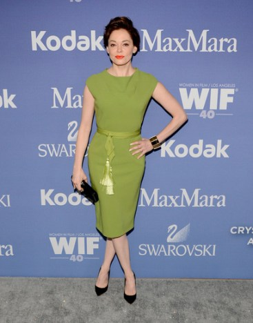 Rose McGowan wearing MAX MARA at Women In Film Crystal + Lucy Awards