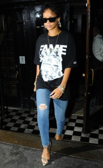 RIHANNA in Frank 151 nyc on FashionDailyMag