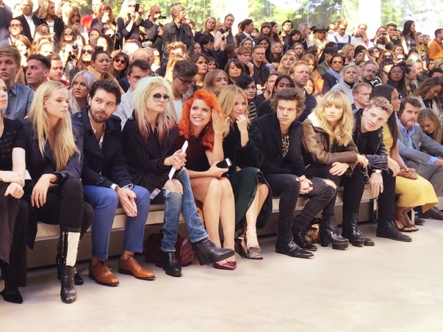 FRONT ROW BURBERRY spring 2014 fashiondailymag sel 3