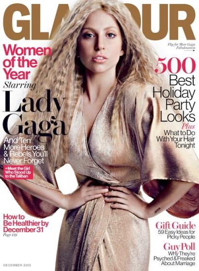 LADY GAGA Glamour Mag December Cover fashiondailymag sel 1