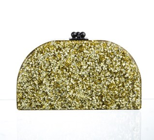 EDIE PARKER gold clutch FashionDailyMag sel 5