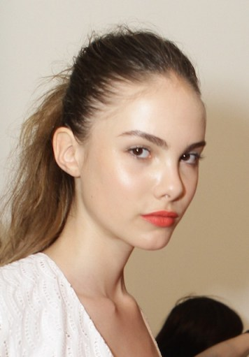 backstage beauty orange lips Christian Siriano FashionDailyMag 3