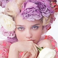 SKY FERREIRA flowered pretty by Josh Olins