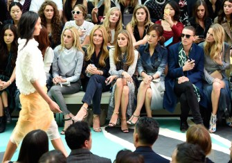 olivia palermo front row burberry ss15 fashiondailymag