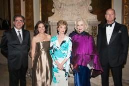 Santiago Calatrava, Sarah Calderon, Jackie Weld Drake, Lynn Wyatt, Prince Dmitri of Yugoslavia casita maria fiesta 2014