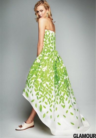 KARLIE KLOSS oscar de la renta glamour jan 2015 FashionDailyMag