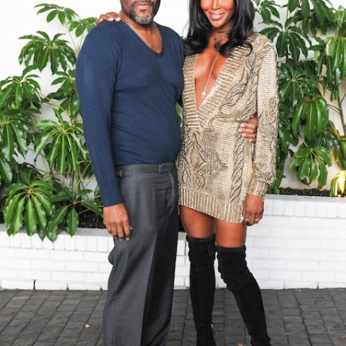 Naomi Campbell with Lee Daniels at W Mag Golden Globes toast