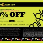 Bloomingdale's Friends and Family Sale 2012: 20% off