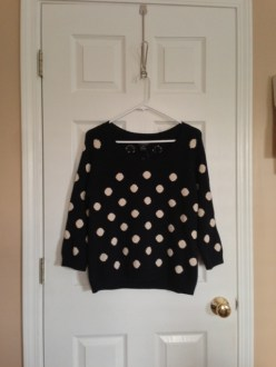 April Find #9: Lucky Brand Polka Dot Sweater (Updated)
