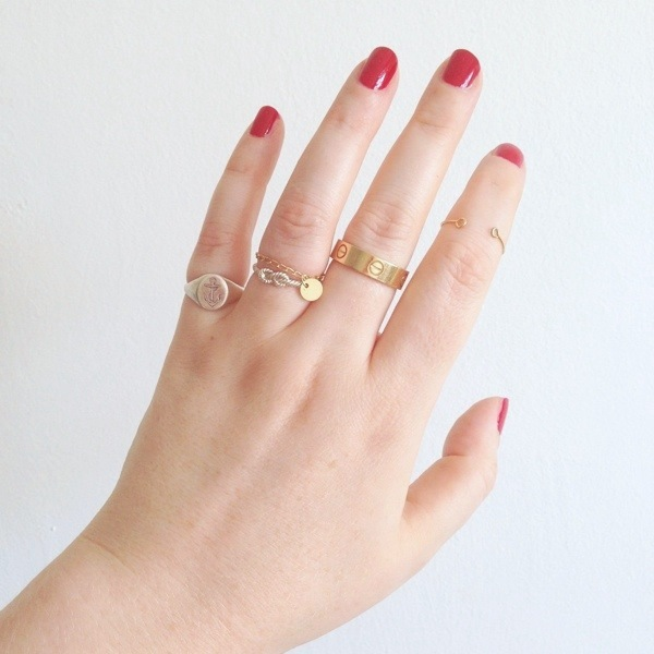 laura lee anchor ring with zoe & morgan knot ring