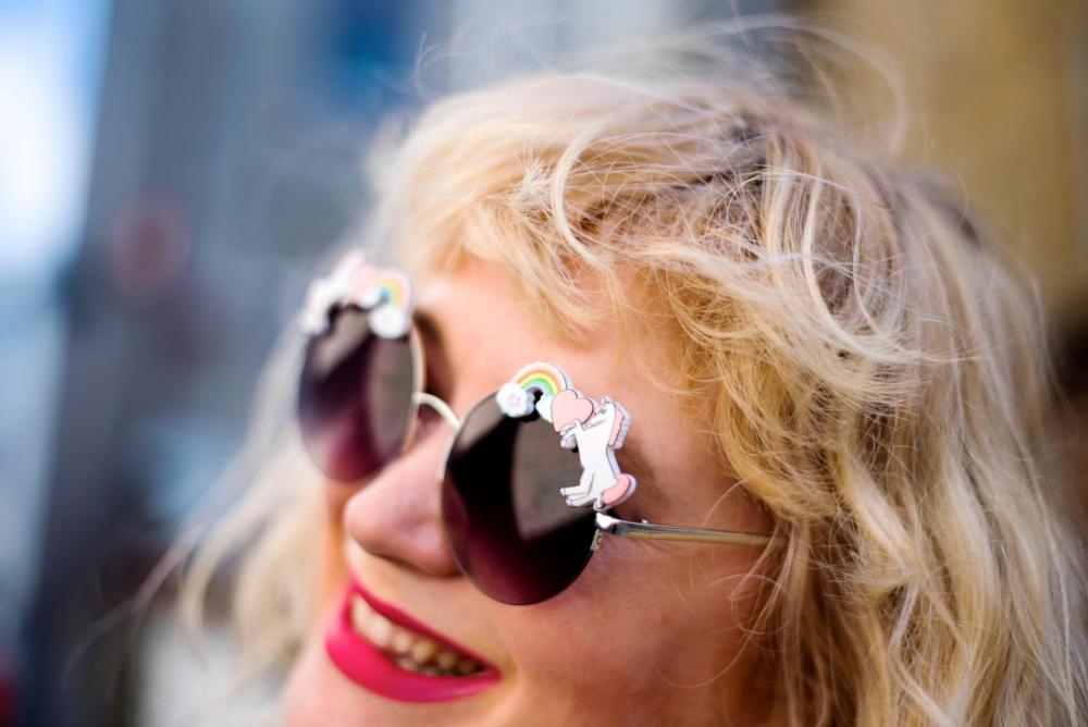 asos cloud rainbow Unicorn Sunglasses