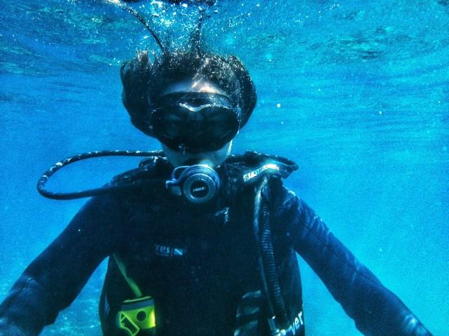 scuba diving fashion grinch