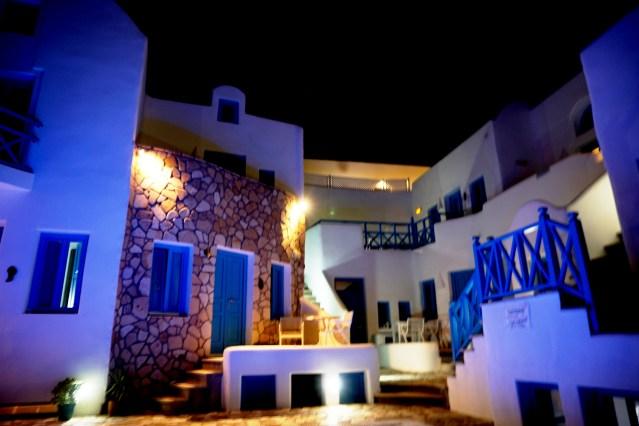 night vision seaside hotel, kamari