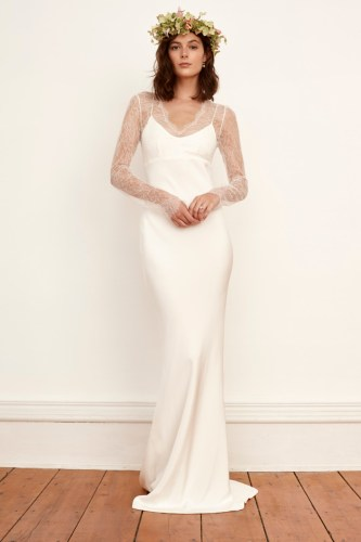 best wedding dresses fall fall dresses for wedding A look from the Savannah Miller fall bridal collection Photo Courtesy