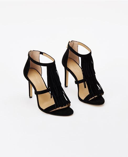ann taylor fringe sandals