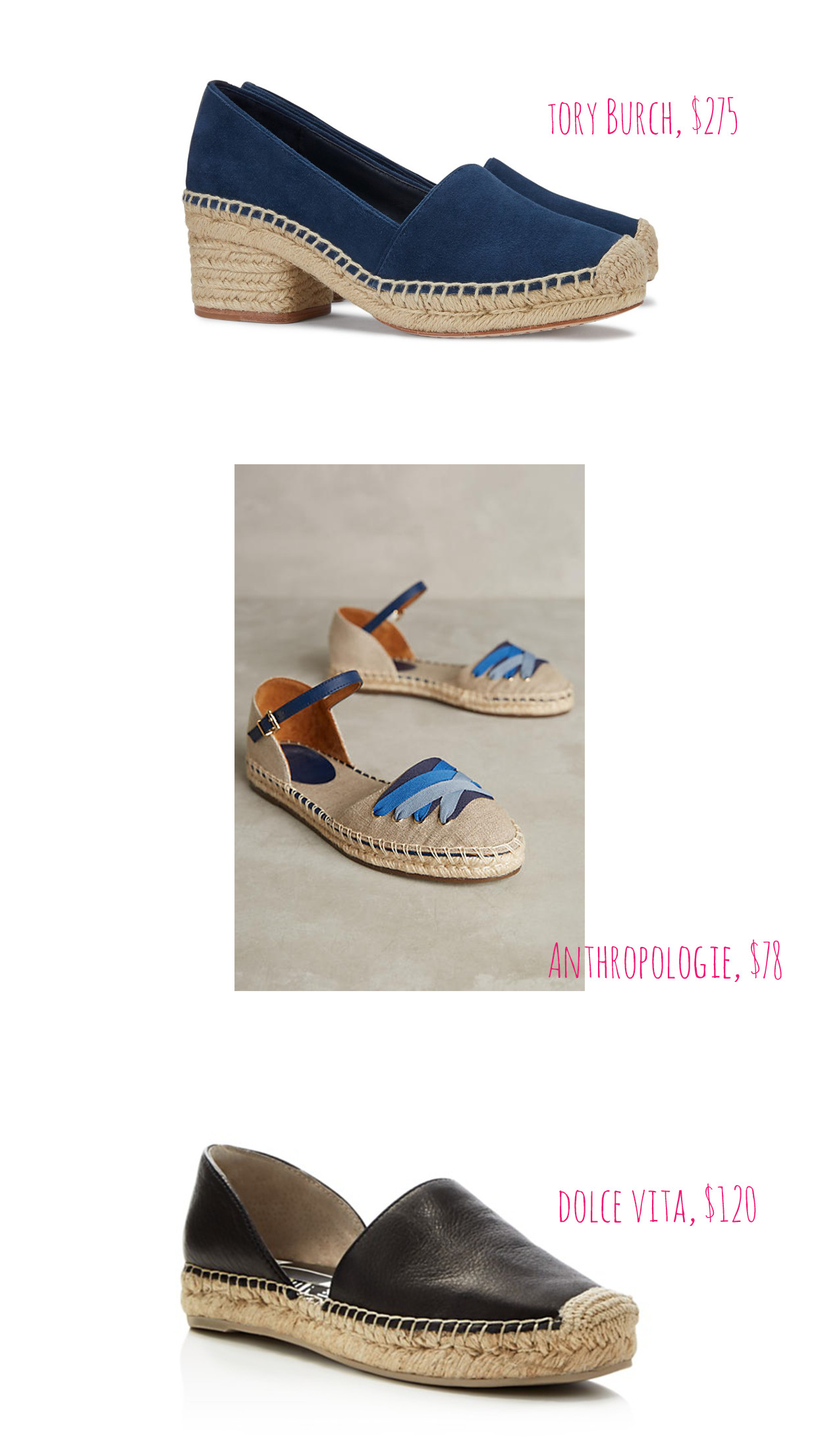 Affordable spring espadrilles.