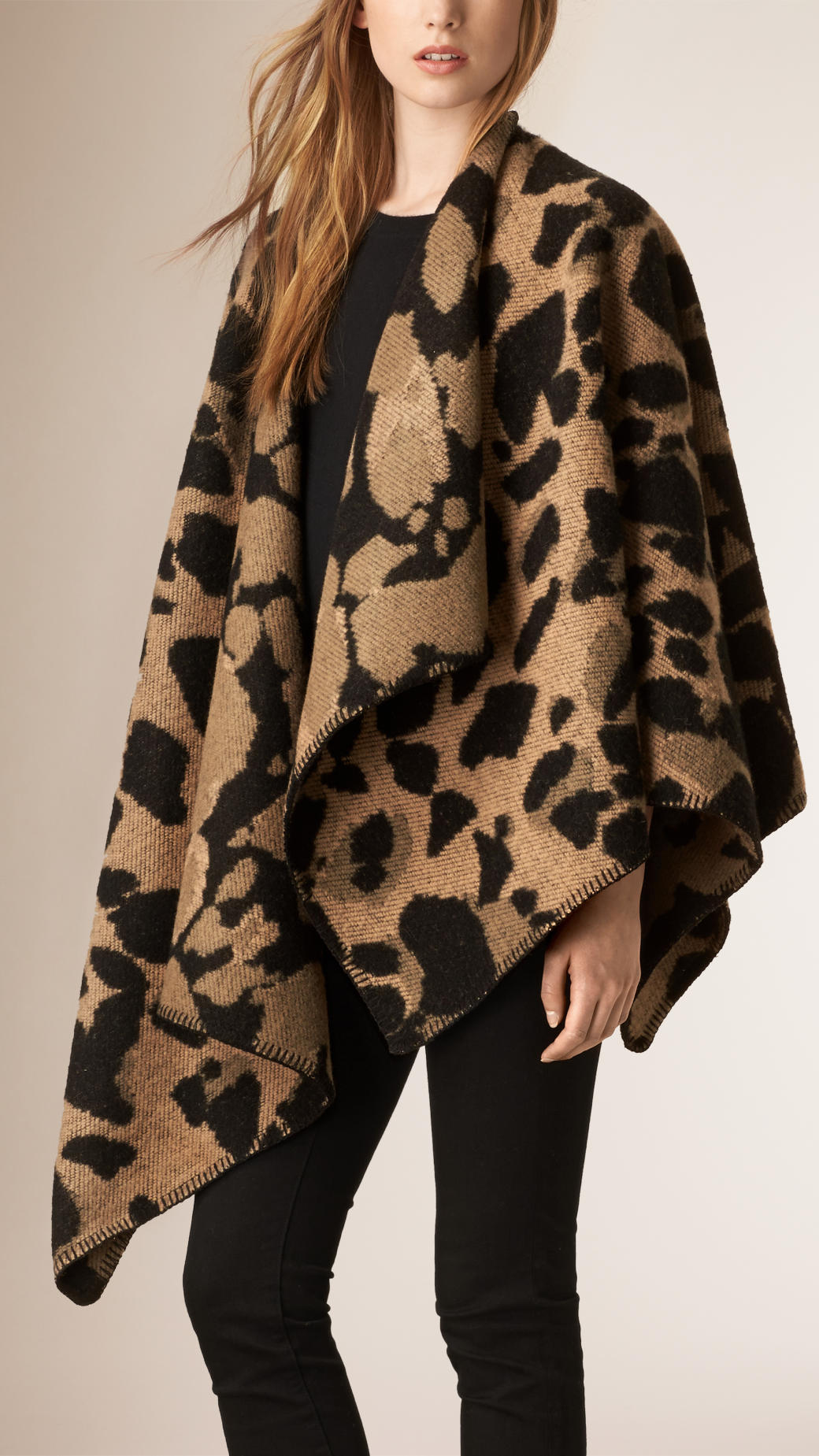 burberry-animal-pattern-poncho-cape-camel