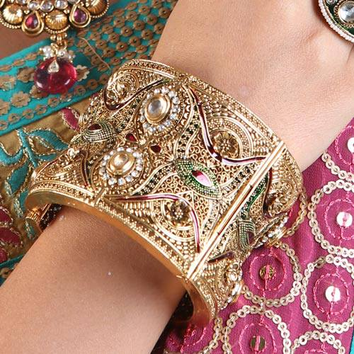 Gold Plated Bridal Bangles for women (2)