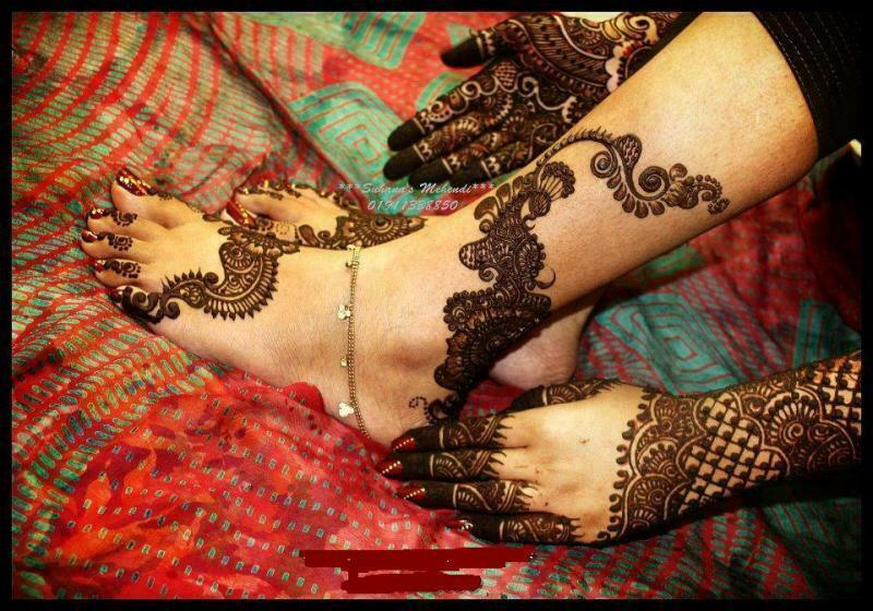 Arabic Foot Mehndi Design collection 2013