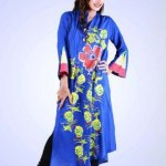 Grapes Flower Print kurta collection 2013-2014 for girls and women (1)