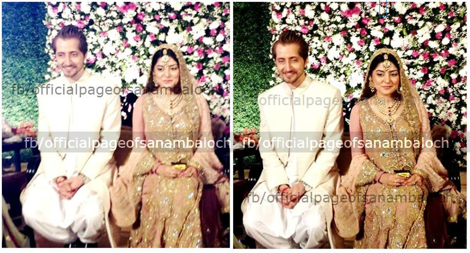 Morning Show host Sanam Baloch Walima pictures