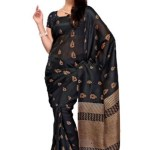 Indian Latest Black Saree Collection 2013-14 for Women (2)