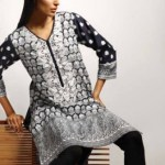 Khaadi Latest Black and White Dress Collection For Women (4)