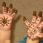 Lovely Kids Mehndi Henna tattoos Hand and feet Designs Collection (2)
