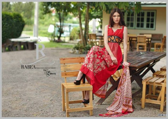 Rabea Designer Embroidered Linen Winter Collection 2013-14 For Ladies