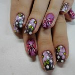 Patels Flower Nail Designs For Christmas Day (3)