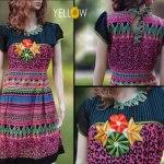 Yellow Clothing Indian Kameez Women Elegance Dresses (1)