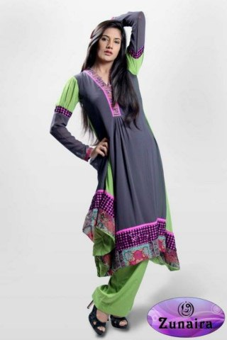 Zunaira's Lounge Winter Party Wear Women Dresses (3)
