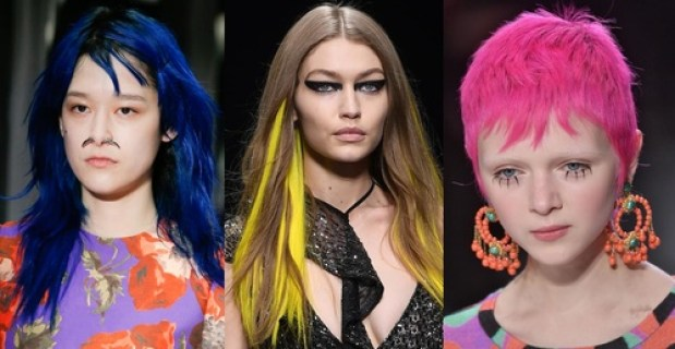 2017 Fall 2018 Winter Hairstyles - Acid Colors