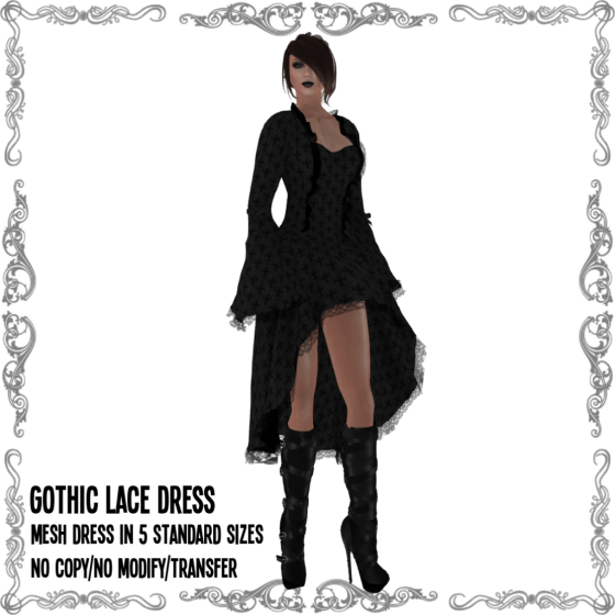 Gothic Lace Dress Anthracite V2