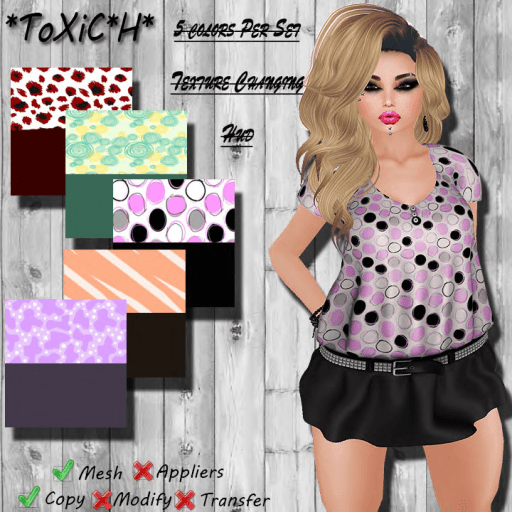 _ToXiC_H_ Lilly Blouse - Dress Pretty Girl Color Changing Hud