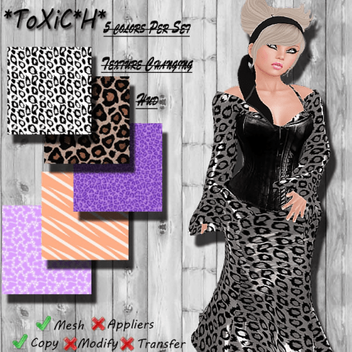 _ToXiC_H_ Elvira Dress Animal Princess With Texture Changer