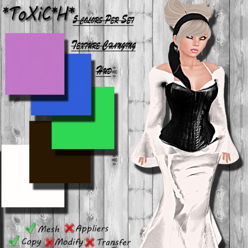 _ToXiC_H_ Elvira Dress White Wedding With Texture Changer