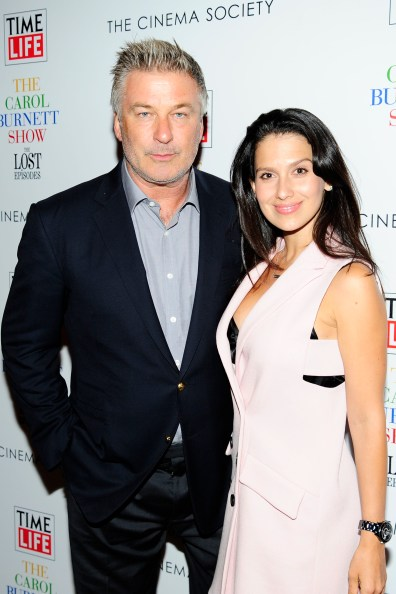 "Alec Baldwin, Hilaria Baldwin== Time Life and The Cinema Society host a screening of ""The Carol Burnett Show: The Lost EpisodesÓ== Tribeca Grand Hotel, NYC== September 17, 2015== ©Patrick McMullan== Photo - Paul Bruinooge/PatrickMcMullan.com== =="