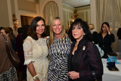 Grace Haggerty, Cindy Habberstad, Marilyn Rose== Women's Voices for Change Luncheon in honor of Christy Turlington Burns, 2015 Champion For Change== Private Manhattan Club, NYC== September 21, 2015== ©Patrick McMullan== Photo - Jared Siskin/patrickmcmullan.com==