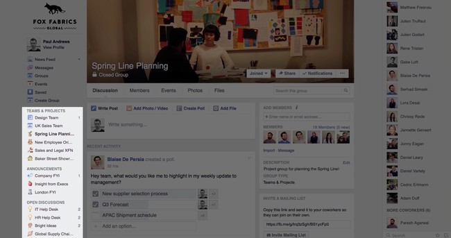 How To Use Facebook Workplace