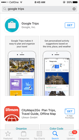 how to use Google trips