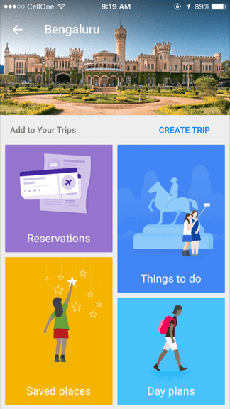 How to use Google trips?