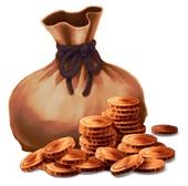 銅のズダ袋