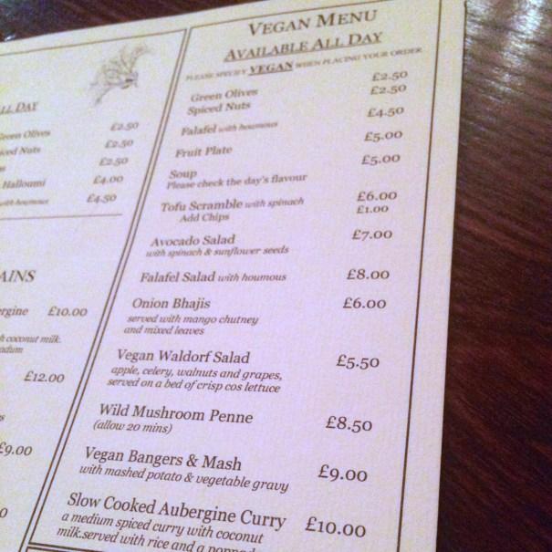 vegan menu 2 oxford place