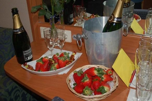 jordgubbar champagne