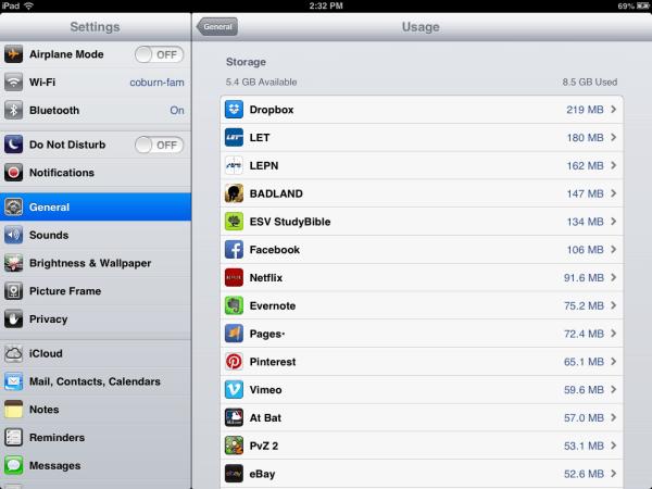 iPad storage not adding up